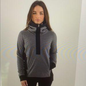Lululemon fleece chaturanga  1/4 zip jacket